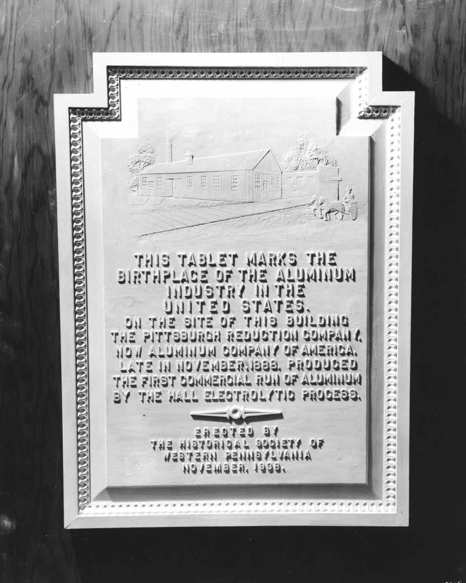 Historical Plaque for the Birthplace of Alumninum Industry