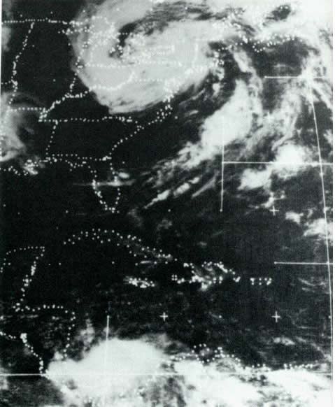 Satellite View of Hurricane Agnes