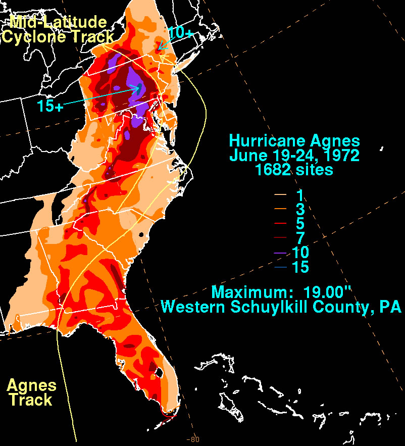 Track of Hurricane Agnes