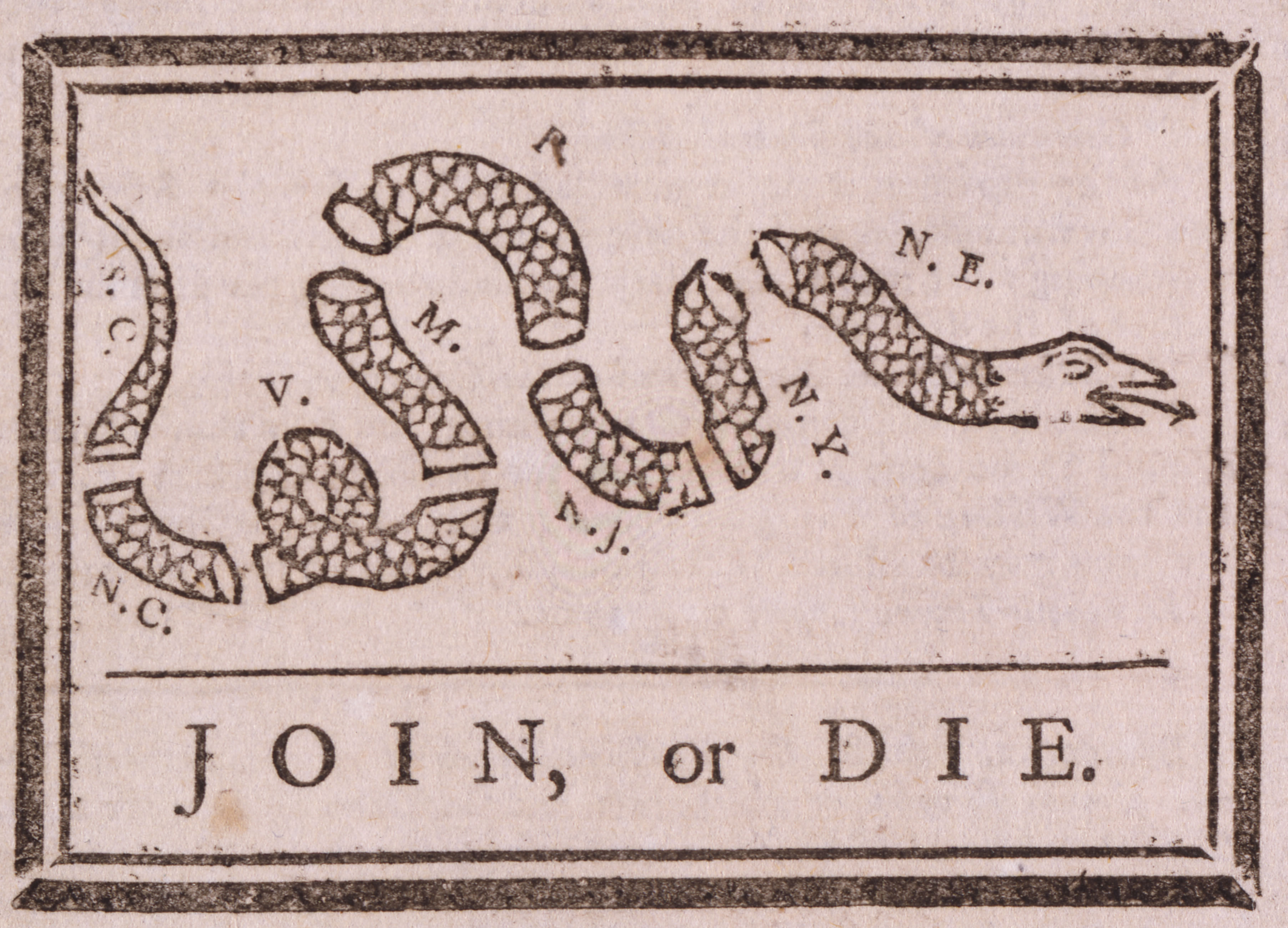 Join, Or Die political cartoon