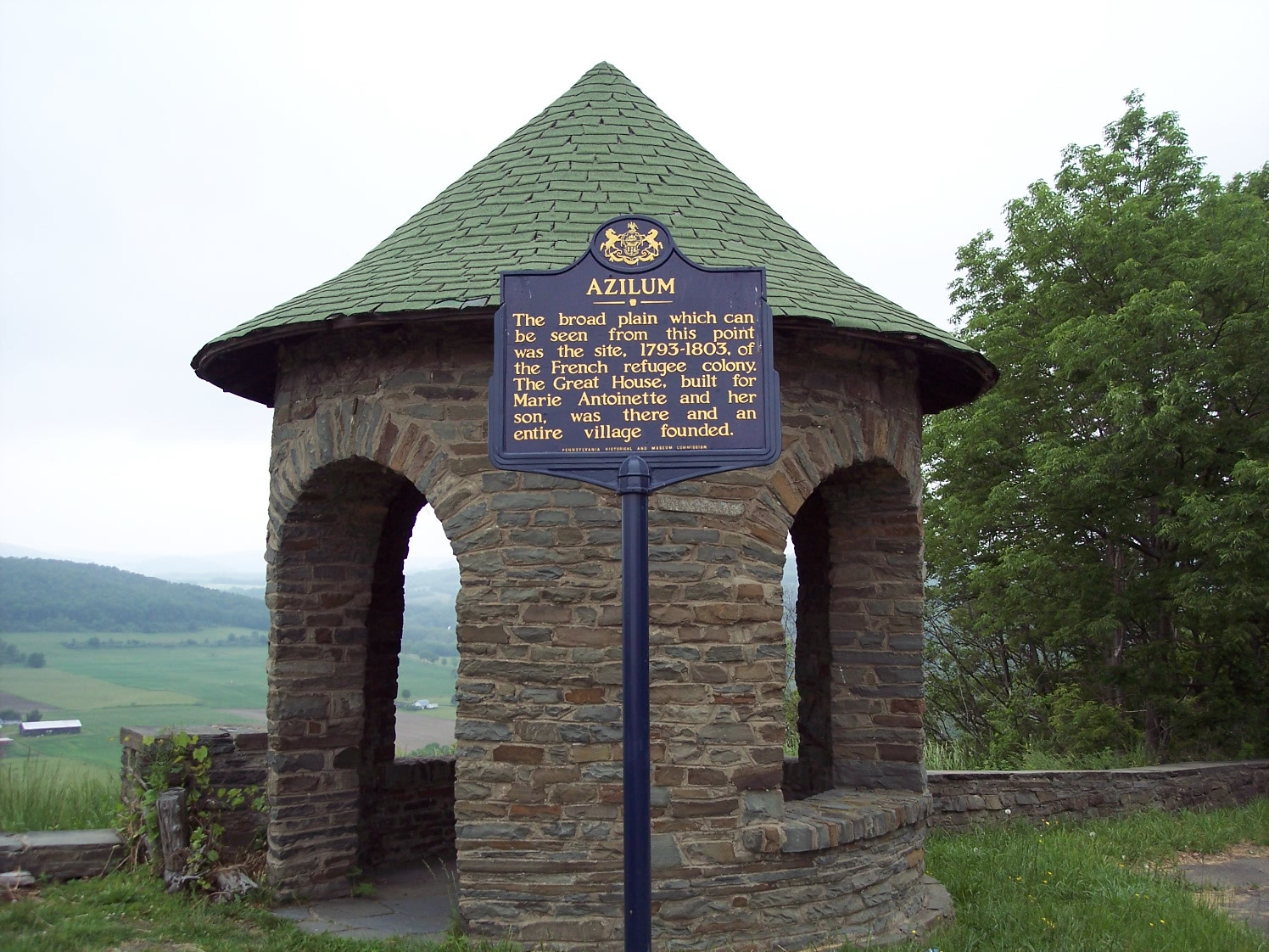 Historic Marker at French Azilum