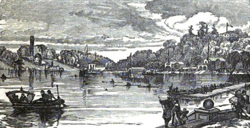 Boathouse Row in 1876