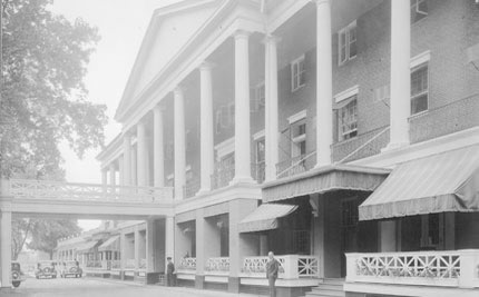 Colonial Front of the Bedford Springs Hotel