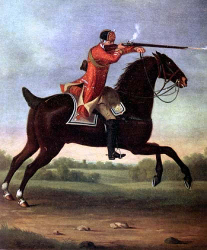 British Dragoon in mid charge