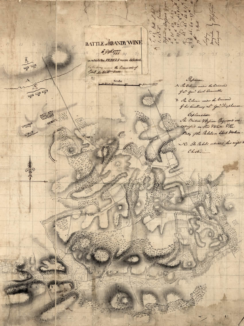 Map of the Battlefield at Brandywine