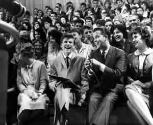 Dick Clark interviewing Bobby Rydell