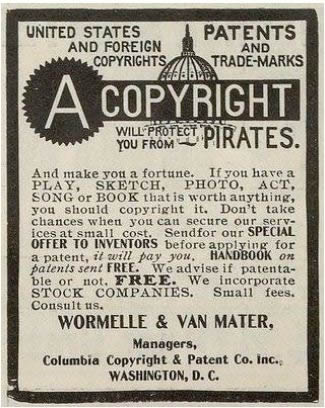 Copyright Services Advertisement