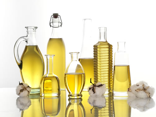 Bottles of Cottonseed Oil