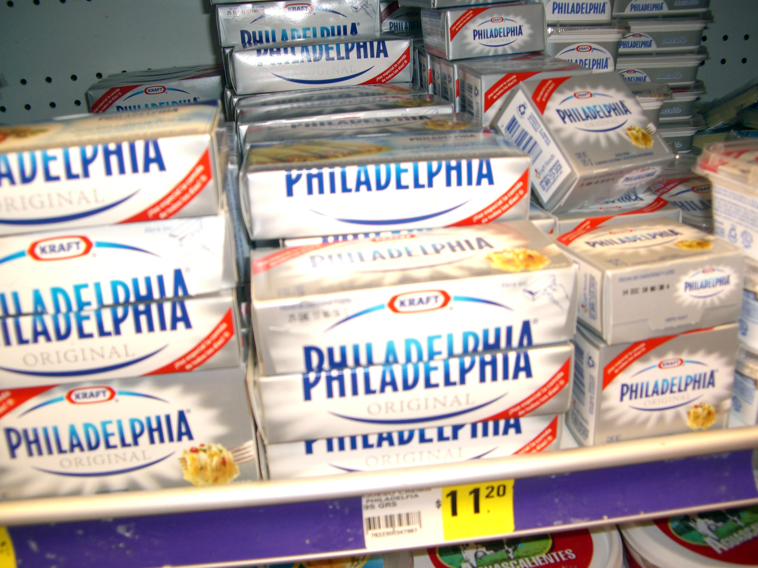 Packages of Philadelphia Cream Cheese