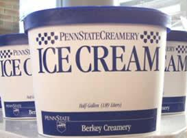 A carton of Penn State Creamery Ice Cream