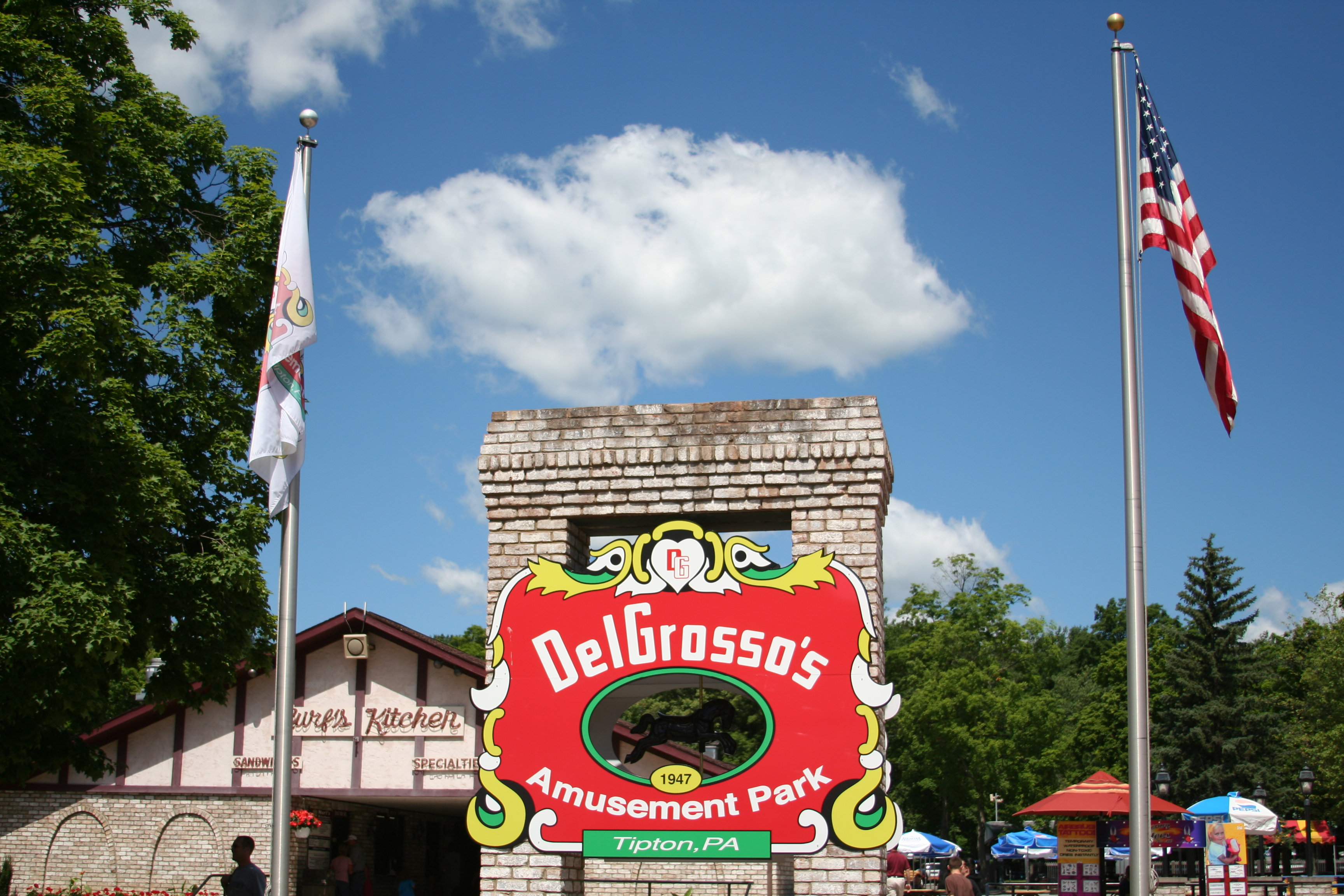 Entrance to DelGrosso's Amusement Park