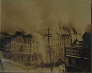 The City Hotel Fire, 1914