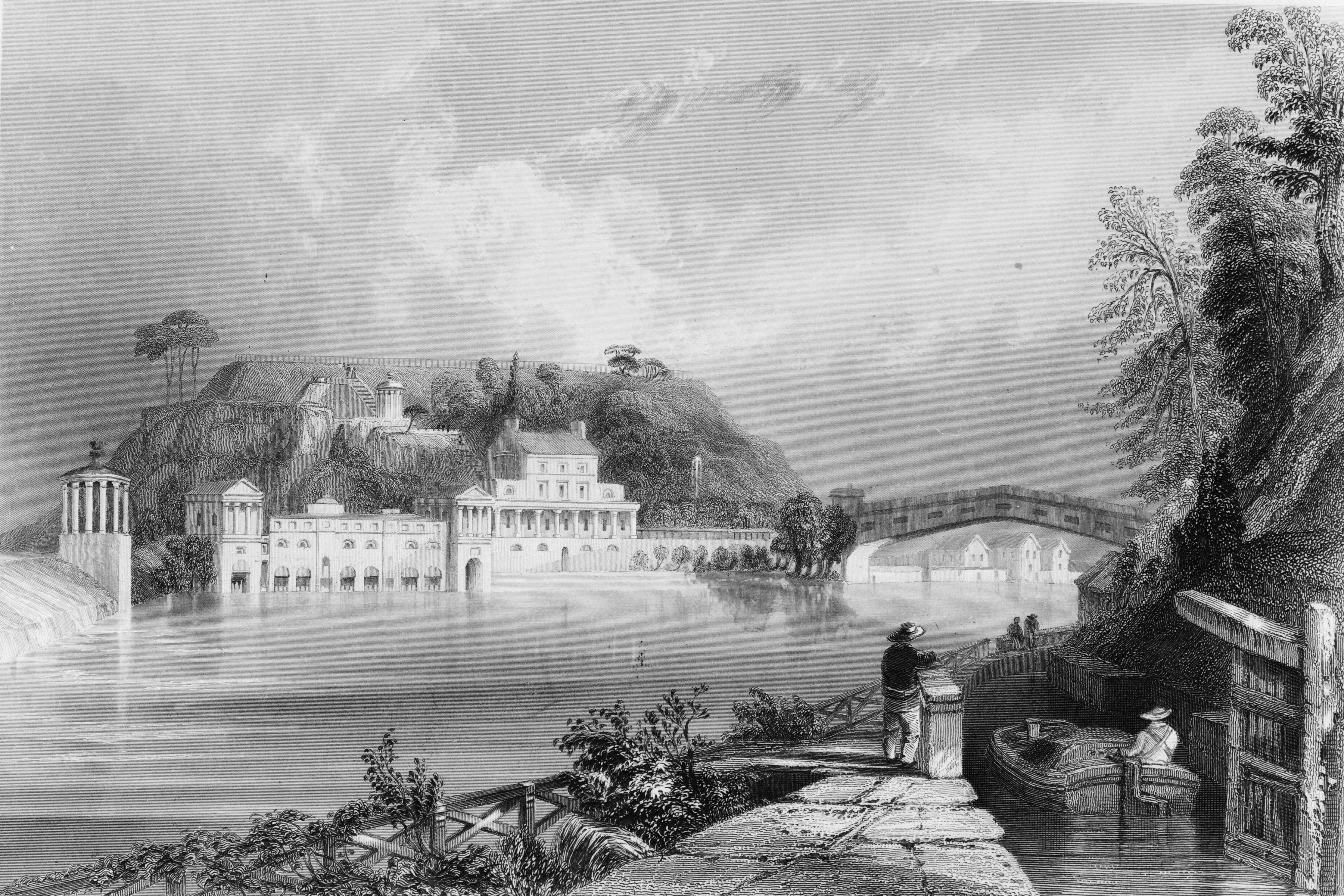 1835 Engraving of the Fairmount Water Works