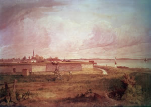 Painting of Fort Mifflin