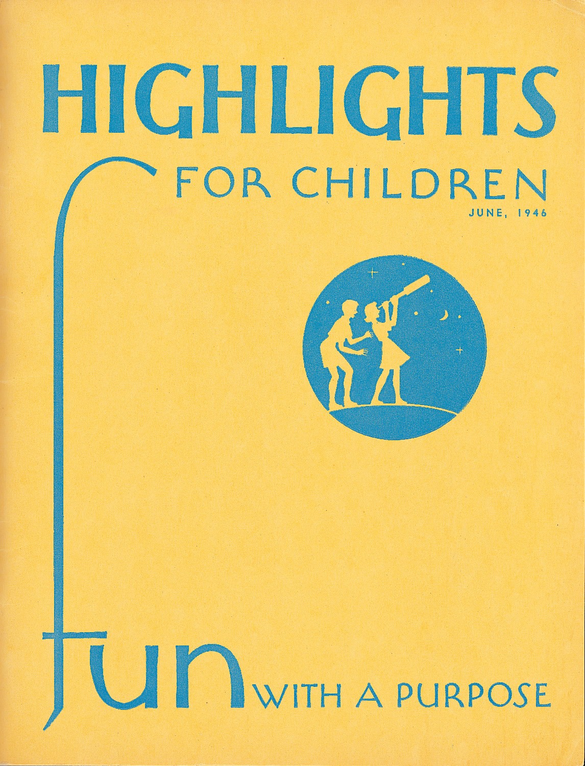 Highlights for Children Inaugural Cover