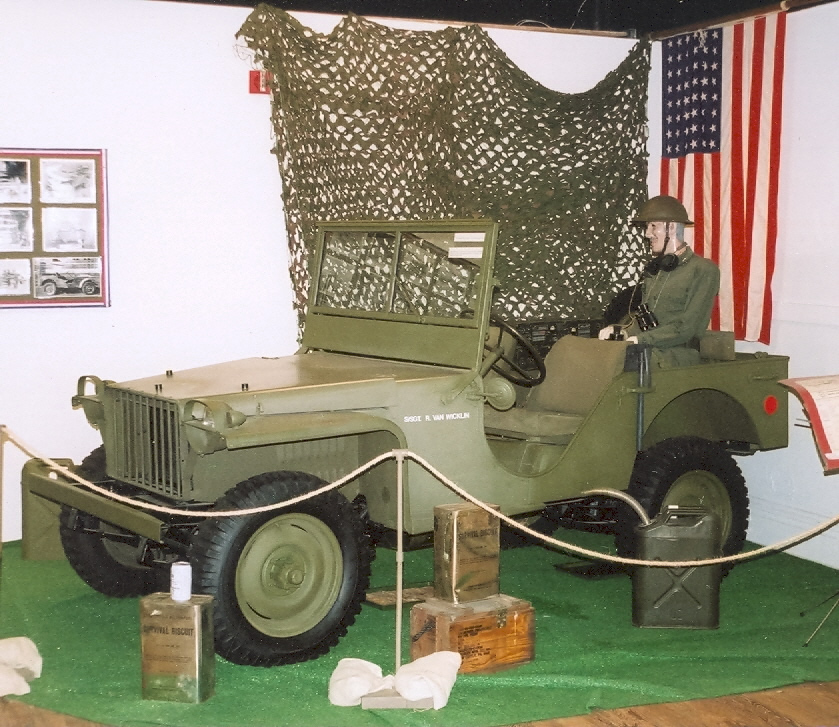 Jeep Diorama at the Butler County Historical Society