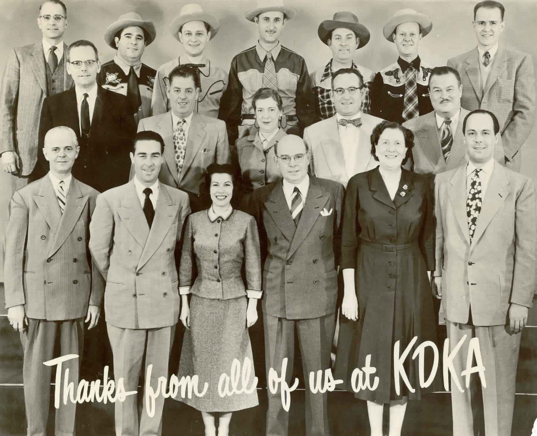 The KDKA Staff in the 1940s