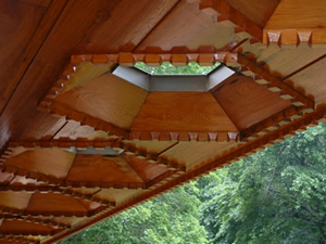 Skylights on deck of Kentuck Knob