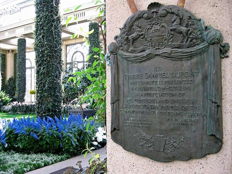 Memorial to Pierre DuPont at Longwood Gardens