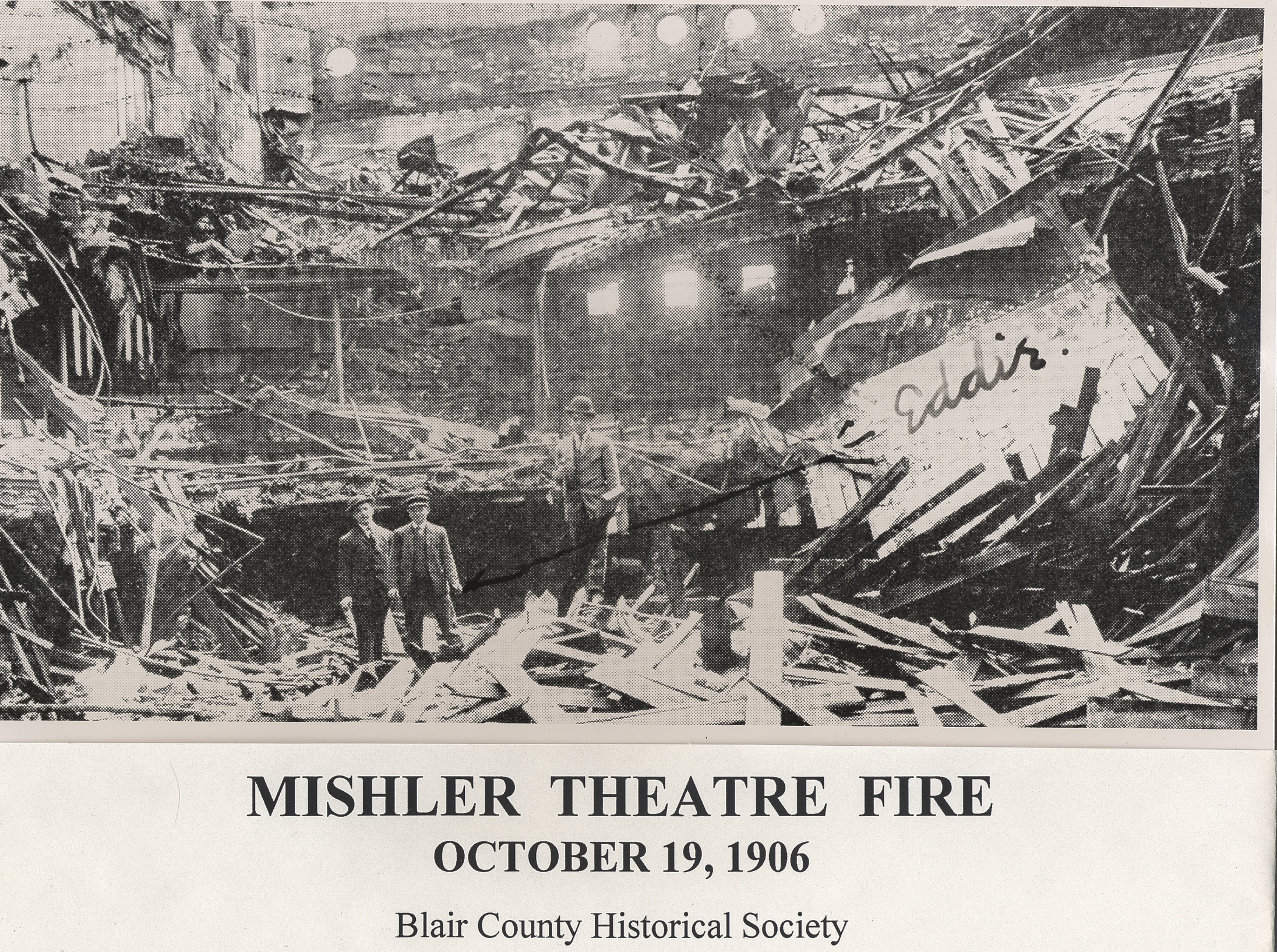 The Mishler Theatre shortly after the fire