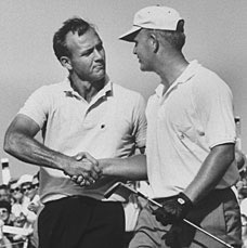 Arnold Palmer and Jack Nicklaus at Oakmont in 1962.