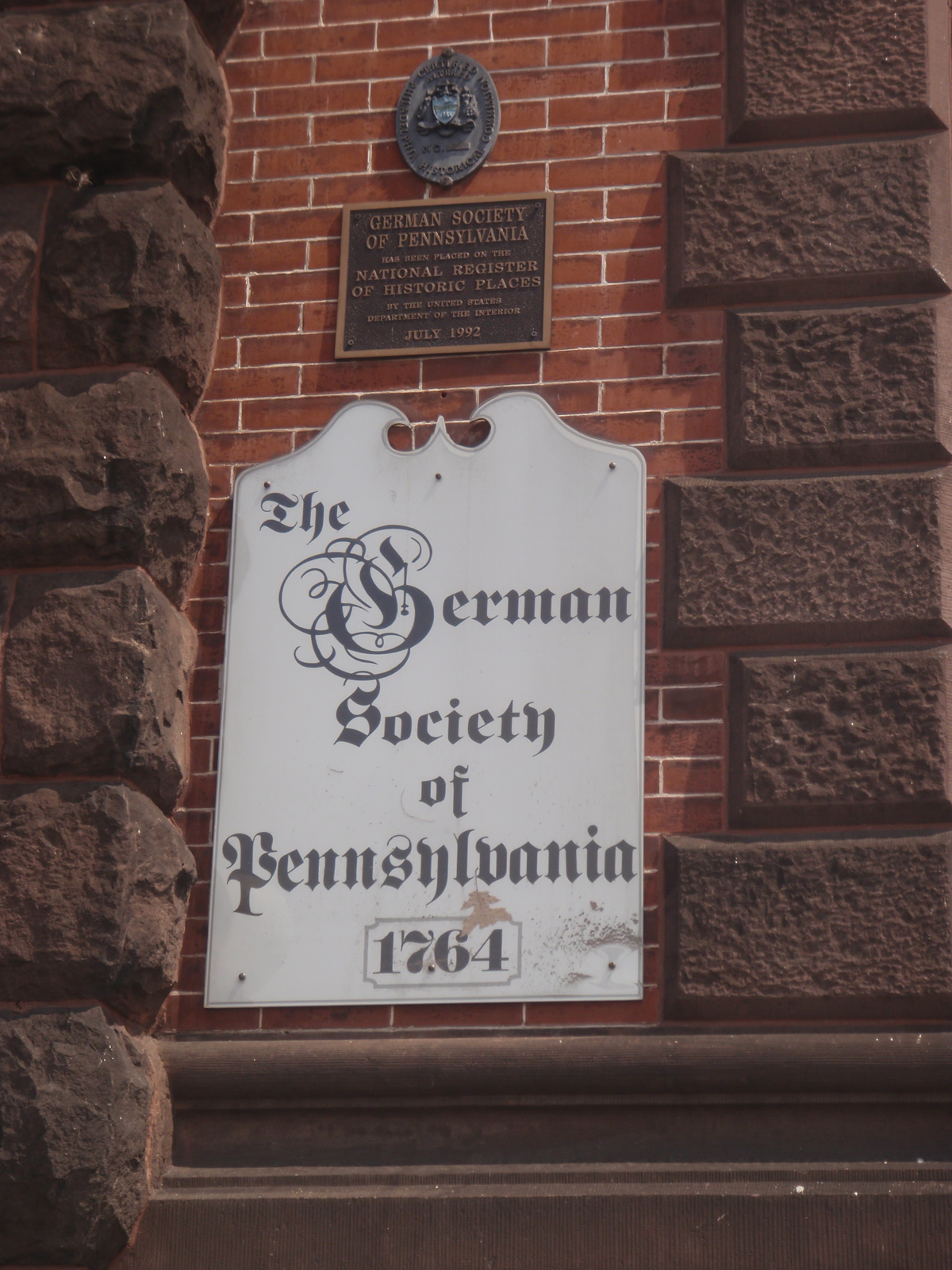 Sign of the German Society of Pennsylvania