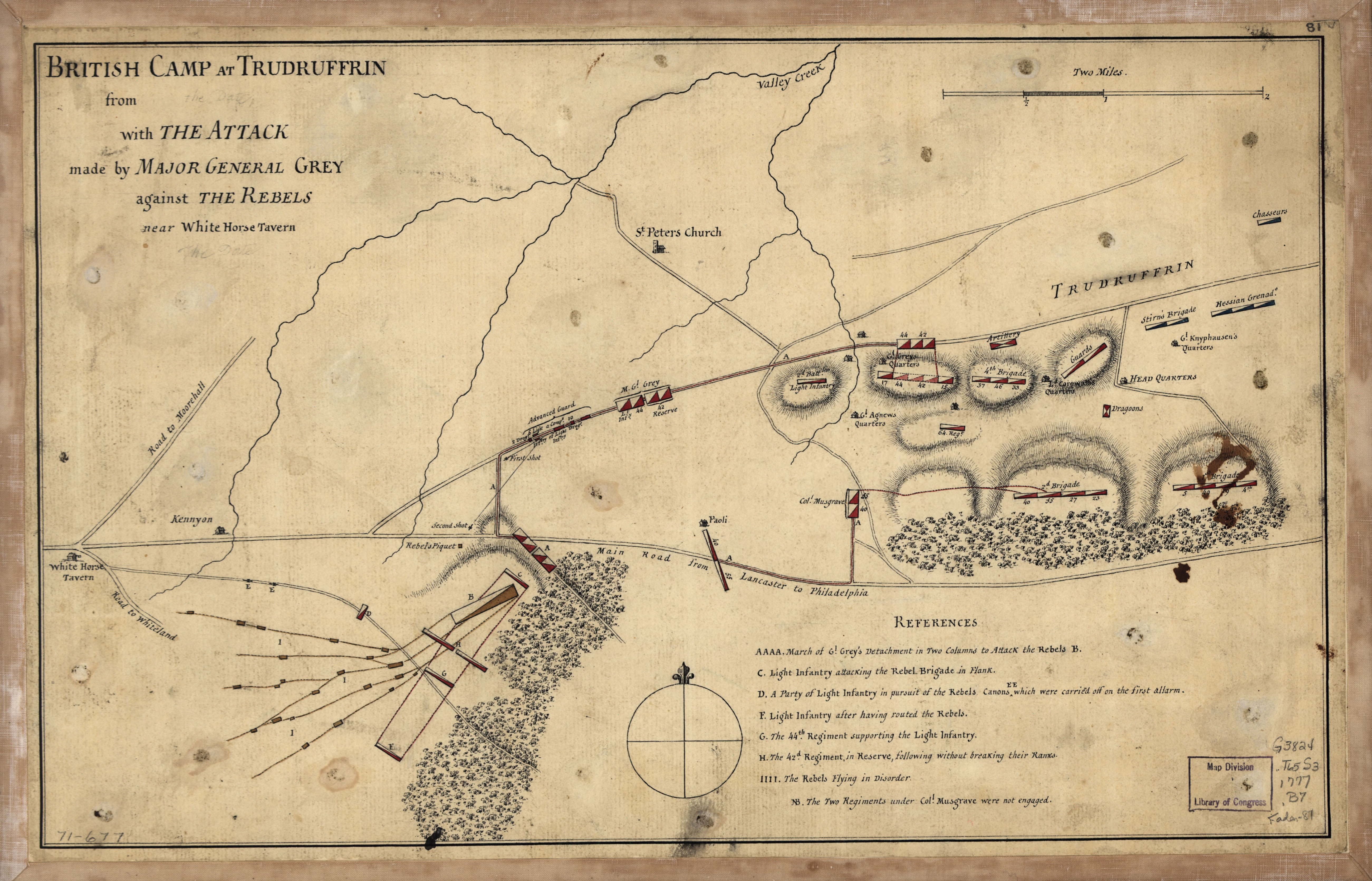 1777 Map of the Battle of Paoli