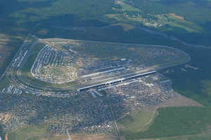 The Pocono Raceway from above