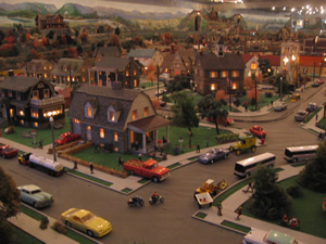 Sweeping view of the Roadside America Village