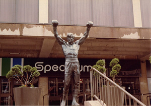 The Rocky Statue at its original location