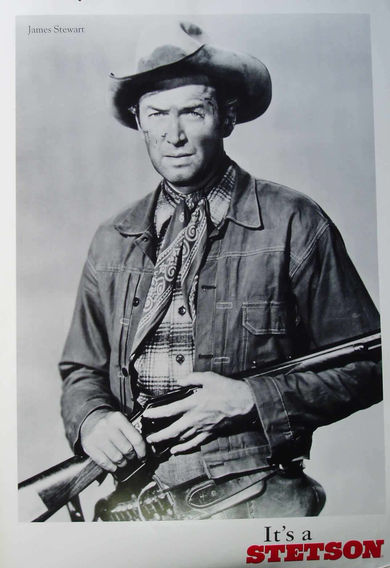Actor Jimmy Stewart advertising for Stetson