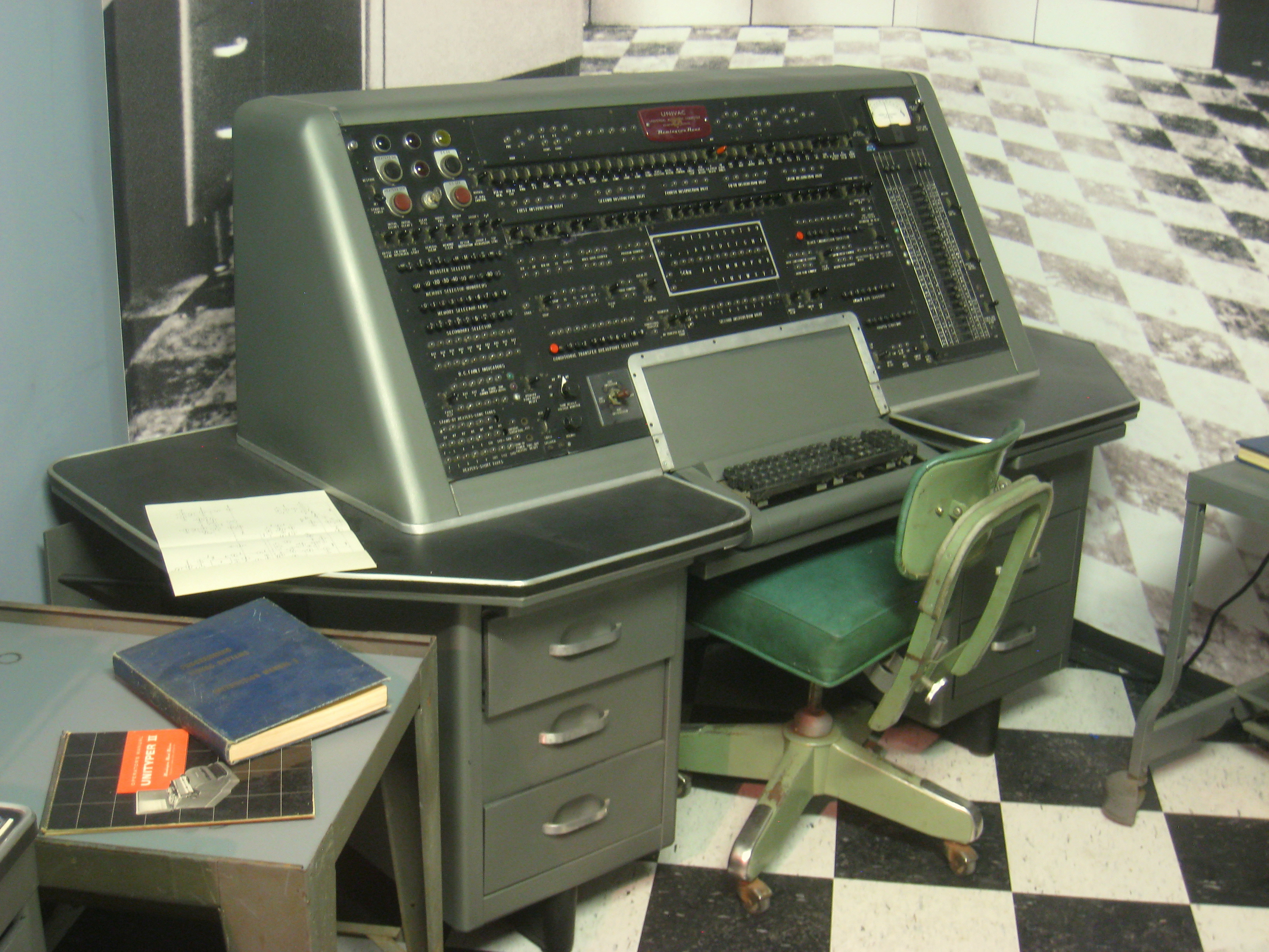 Console of a UNIVAC computer