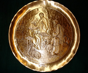 Bronze Plate with Nativity Scene