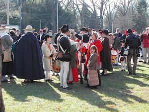 Re-enactors at Washingtons Crossing