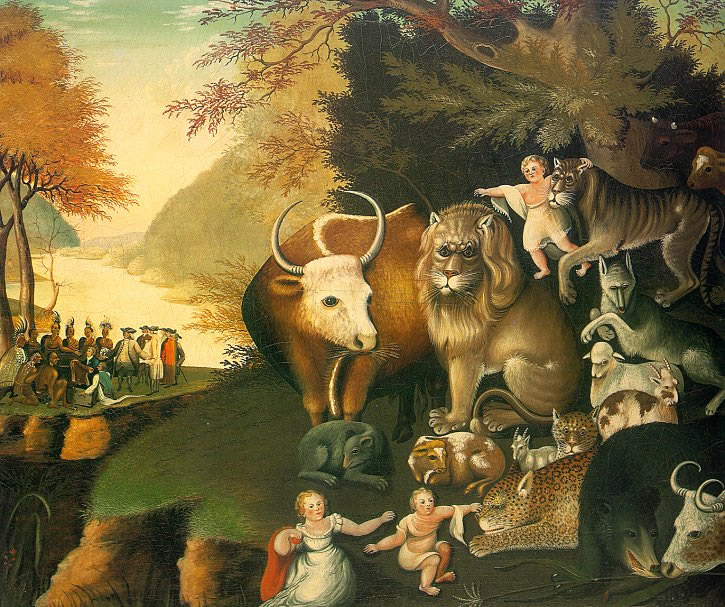 Edward Hicks' painting, The Peaceable Kingdom