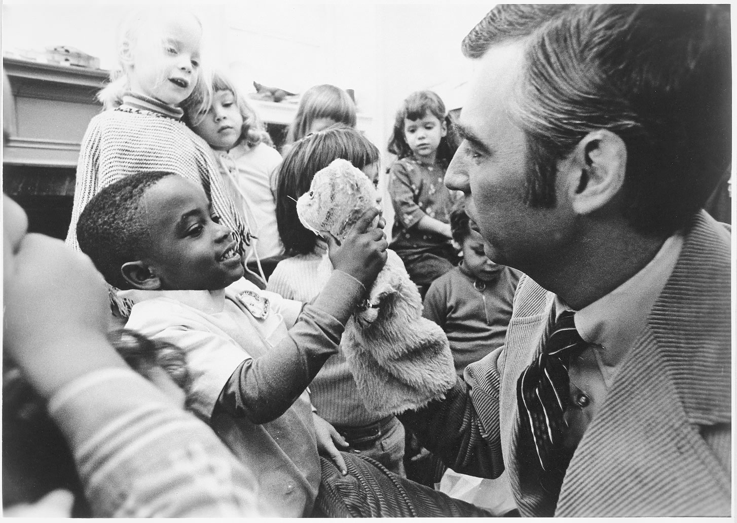 Child with Fred Rogers